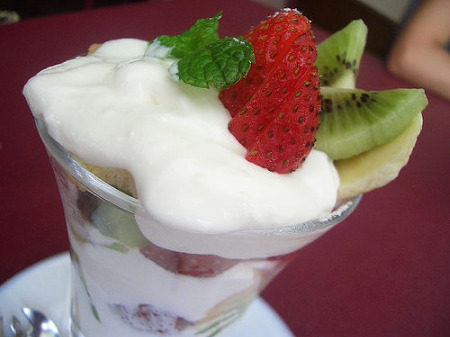 Yogurt, filled with healthy probiotics, is popular all over Europe.